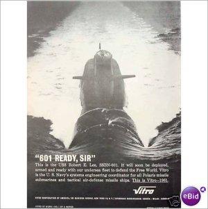 1961 Robert E Lee SSBN 601 Polaris submarine 1 page ad E175