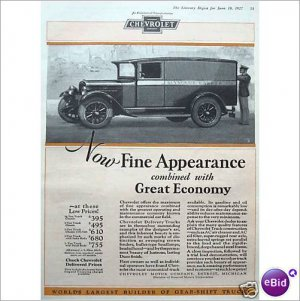 Chevrolet Delivery truck 1927 full page color ad E178