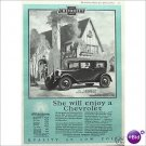 Chevrolet Coach 1927 full page ad woman driver E182