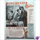 1929 Winchester Christmas rifle full page color ad E192