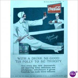 1926 Coca Cola Coke soda fountain full page color ad E194