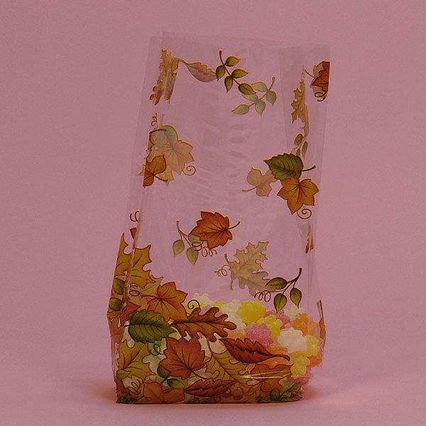 "Falling Leaves Cello Bags 100 cnt $19.99, 3.5"" x 7.5"" size"