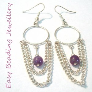 SEMIPRECIOUS AMETHYST EARRINGS
