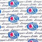 Little League Baseball Sport Logo Fabric FQ
