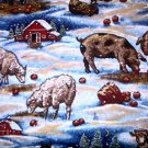 CHRISTMAS FARM ANIMALS Fabric FQ
