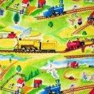 Circus, clown, trains Fabric FQ -rare