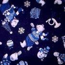 Christmas Polar Bear, Trumpet Fabric FQ