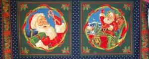 Santa's Gifts  Fabric Pillow Panels