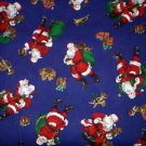 CHRISTMAS SANTA Trumpet, drum Fabric FQ