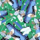 Art of Golf Cotton Fabric FQ