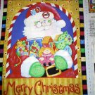 Snowman with toys  fabric panel - Kimberly Montgomery