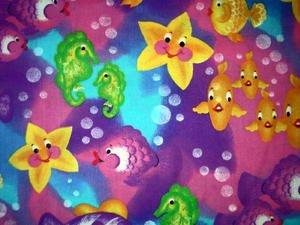 Rainbow fish Horsefish Moonfish Fabric