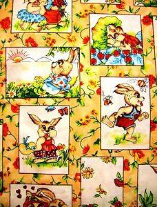 Easter Hunt, Bunny Patch Fabric QUILT 1/2 yd.