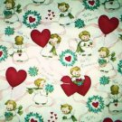 Valentine Angels & hearts Fabric FQ