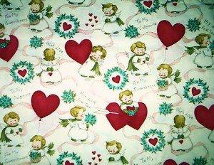 Valentine Angels & hearts Fabric FQ