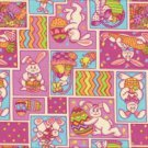 Easter Hunt Patch Bunnies Cotton Fabric