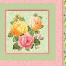 Gorgeous Roses pillow fabric panels