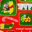 "DISNEY ""POOHS Christmas"" patch Fabric FQ"