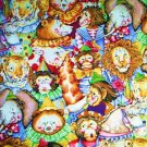 Circus animals Lion Elephant Tiger Monkey Cotton Quilt Fabric FQ