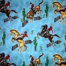 In the Ranch Rodeo Cowboy Horse Cotton Quilt Fabric FQ