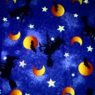 Halloween Witch on blue sky Fabric FQ