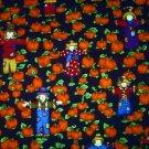 Halloween Scarecrow on pumkin field Fabric