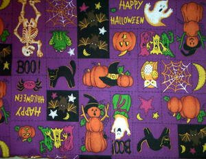 Happy Halloween Patch Fabric FQ