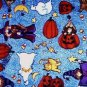 Halloween Pumpkin Jack-o-Lantern Witch Cat Fabric FQ - Leslie Beck