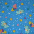 Blue Care Bears on Balloons Hearts Fabric FQ Fat Quarter