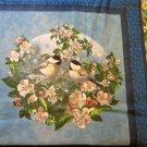 Spring time birds Fabric pillow panel - Hautman