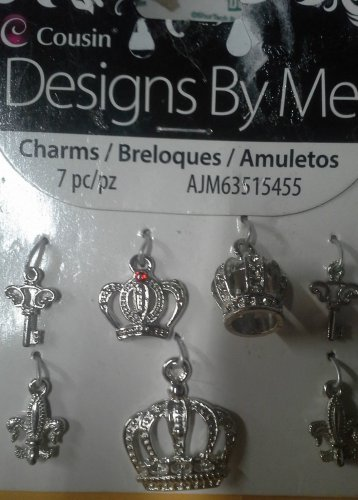 Cousin Designs By me Charms/Breloques/Amuletos 7 pc