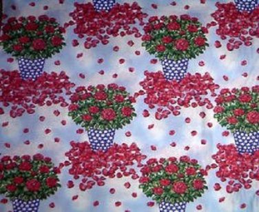 State Flowers NYC Commemorative Rose fabric
