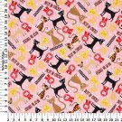 Best in Show Kitties on Pink Cotton fabric FQ Fat Quarter My Pet's M'Liss