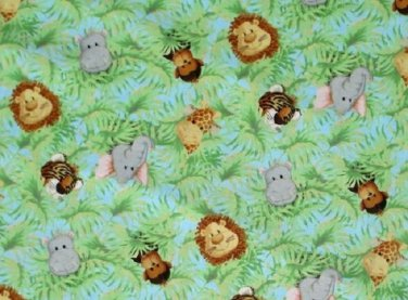 Patty Reed Jungle Babies allover fabric Fat Quarter