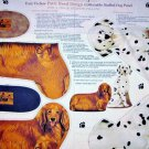 Patty Reed Stuffed Dogs  fabric  Panel