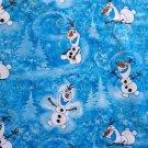 Disney Olaf Winter Toss fabric 1/2 yard