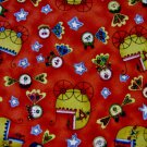 Baby Strollers on red fabric Fat Quarter