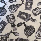 Perfume bottles allover Cotton Fabric FQ fat quarter