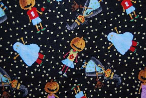 Halloween kids in costumes Fabric FQ Fat Quarter