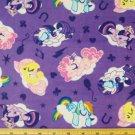 Sleepy My Little Pony cotton fabric flannel 1 yd.