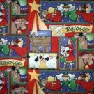 CHRISTMAS Rejoice Nativity Patch Fabric Fat Quarter FQ
