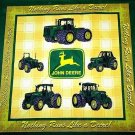 Nothing Runs like a Deere fabric pillow panel