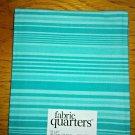 Fabric Quarters 100% Cotton Pre Cut Fat Quarter FQ -  Aqua Stripe