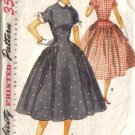 Vintage 50s Simplicity Sewing Pattern 1042 Misses Rockabilly Dress Size 16 B34