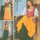 Simplicity Sewing Pattern 5582  Renaissance Peasant Wench Misses Size 4 6 8 10