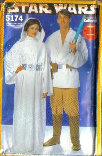 Butterick Sewing Pattern 5174 Adult Star Wars Costume Princess Leia ...