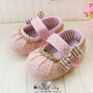 Girls lovely with bowknot ribbon pink Pre walk/ pre-walking Shoes