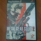 Metal Gear Solid 2 PS2 Game