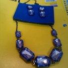 Purple Necklace & Earring Set