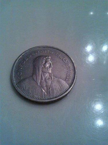 1968 5FR confoederatio helvetica silver coin